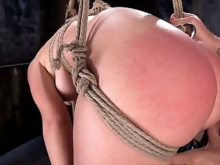 Tied Up Hoochie Juliette March Is Penalized By One Non-traditional And Spoiled Dude