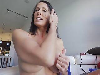 Dark-haired Mummy Reagan Stuffs Her Undies In Her Vagina And Masturbates