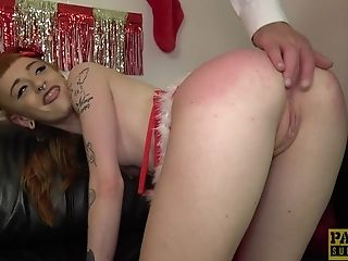 Tattooed Skinny Blonde Azura Alii Gets A Rough Rear End Style Fuck