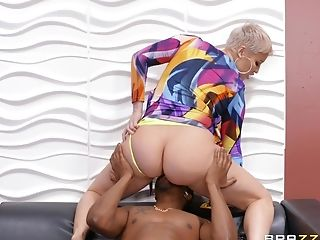 Intense Interracial For The Thick Butt Matures On Fire