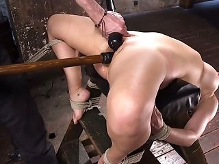 Hog Tied Bitch Cherie Deville Is Fucked With Lengthy Stick And Crazy Electro-hitachi