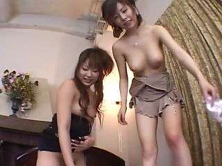Miyu Sugiura And Her Super-cute Friend Eventually Get To Suck A Lengthy Dong