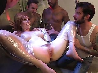 Chesty Red-haired Matures Whore Lauren Phillips Group-fucked Xxx