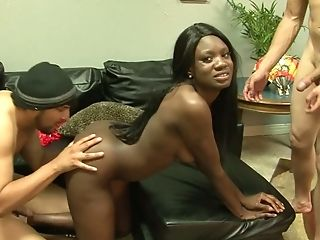 Hot Black Cheerleader With A Nice Rack Puts Her Lovemaking Abilities To The Test