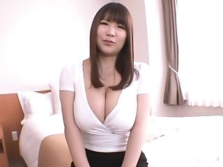 Big-titted Chick Yuzuki Marina Likes It When A Friend Plays With Her Tits