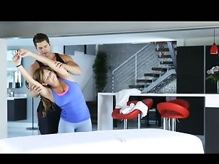 Fuck Friends Workout Together Before Having Fuck-fest In The Living Room