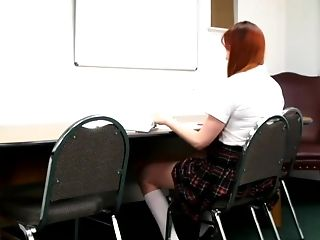 Horny School Gal Spanked In Class