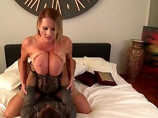Huge-boobed Blonde Matures Laura M. Takes Off Her Clothes To Be Fucked