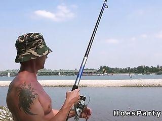 Euro Fledgling Honies Beach 4some
