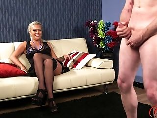 Cfnm Flick Of One Man Milking His Penis While Scarlett Jackson Witnesses