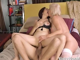 Sixtyplusmilfs - Two Matures Whores Had A Wild Threesome