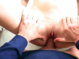 A Honey With A Nice Big Rack Is Having Her Beaver Penetrated Well