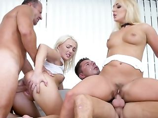 Gorgeous Blondie Lovita Fate Takes Part In Group Hook-up Scene For The First-ever Time