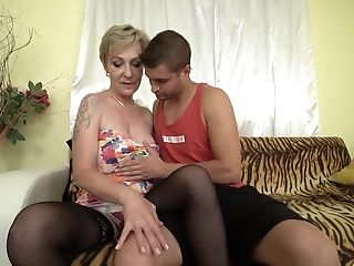 Matures Mili Adores When Horny Dude Jizm On Her Tits After Rough Romp