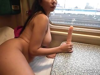 Super-naughty In The Train