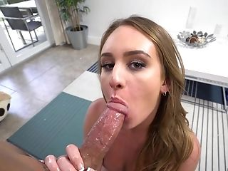 Daisy Loves Sucking On A Stud's Fat Device Before Being Plowed