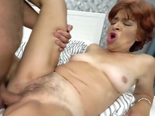 Hairy Granny Cootchie Crammed Over And Over By A Youthfull Dick