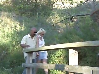 Blonde Woman Eating His Hard Big Black Cock
