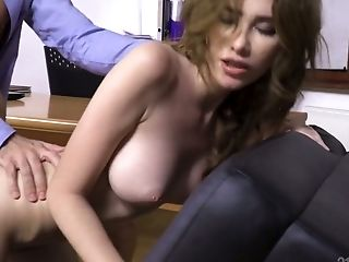 Alluring Beauty Gisha Forza Gets Arched Over The Table For Hard Ass Fucking