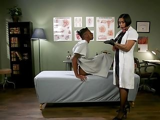 Big-chested Asian Mummy Nurse Mia Little Rails Black Manhood At The Office