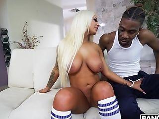 Interracial Fucking With Large Caboose Blonde Model Brandi Bae