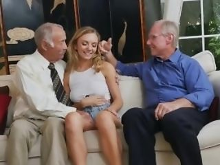 Teenager In Douche Spied On Then Banged By Insane Old Grandpas