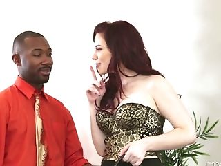Jizz Loving Sandy-haired Gets Fucked By A Black Stud In Front Of Her Hotwife Bf