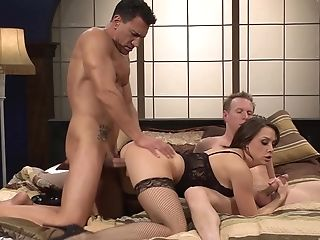 Chanel Preston Is Inbetween Her Horny Friends During A Rough Threesome
