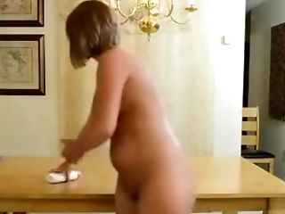 Curvy Wifey Puts Lotion On Her Assets