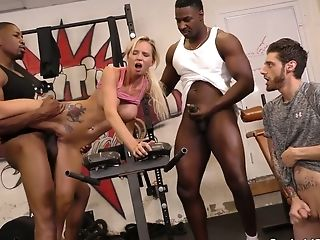 Hotwife Dude Sees How Two Black Dudes Fuck His Whorish Milky Gf Astrid Starlet