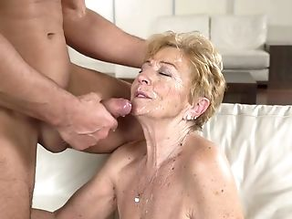 Deviant Student Fucks Old Baby Sitter Malya And Cums On Her Face
